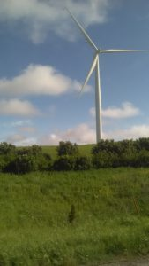 wind-energy windmill. White.
