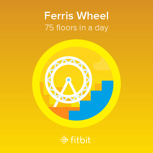 Ferris Wheel badge--75 floors in a day.