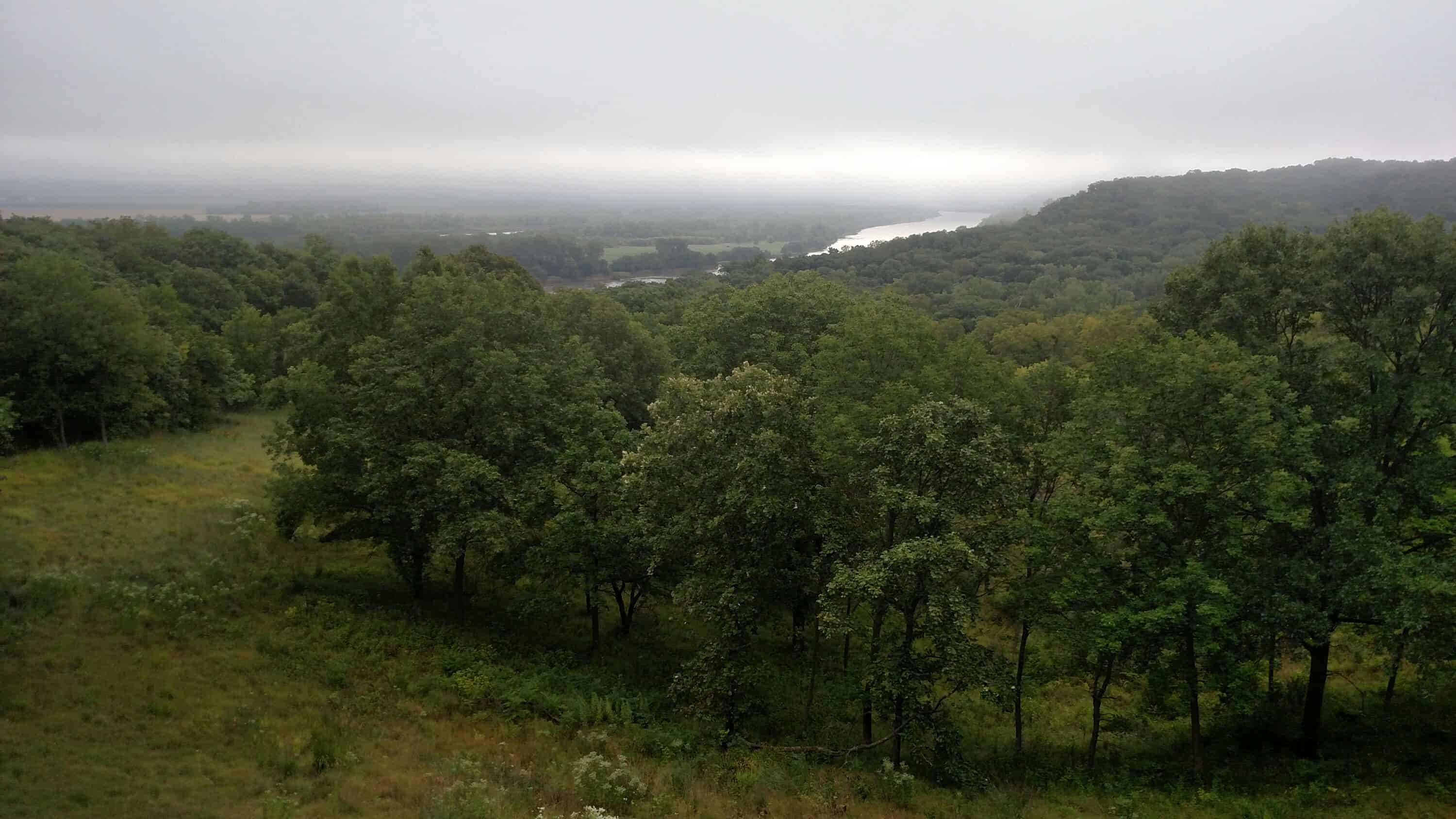 View of Missouri River from Above