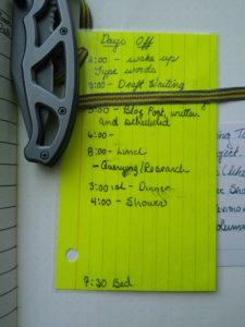 Bullet journal bookmark-schedule