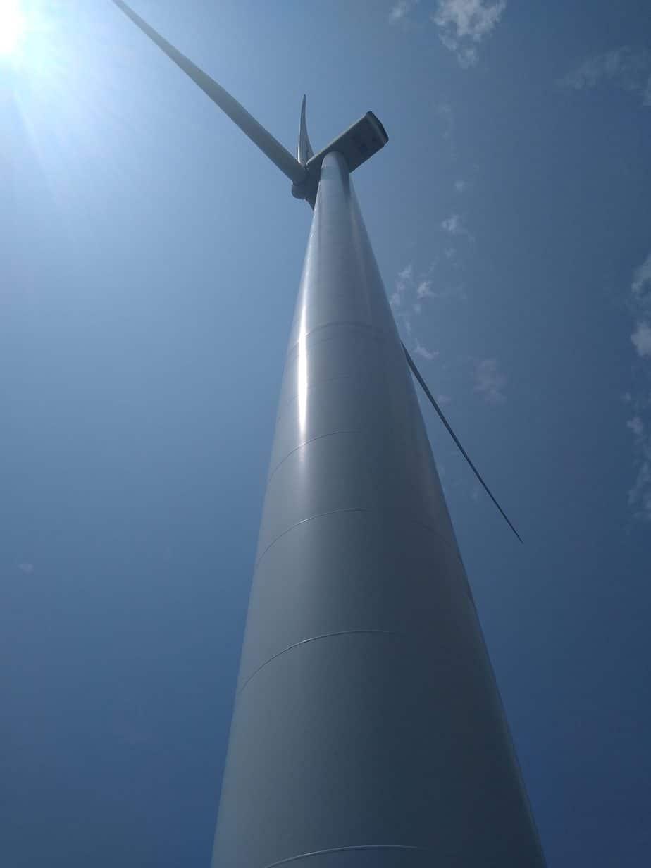 wind turbine up close