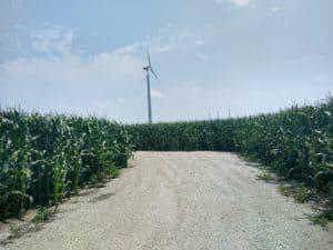 wind turbine at a distance